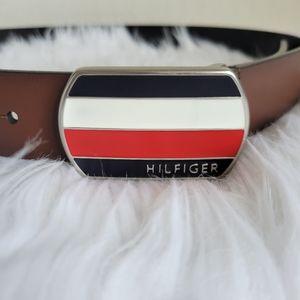 Tommy Hilfiger Mens Logo Buckle Belt NWOT